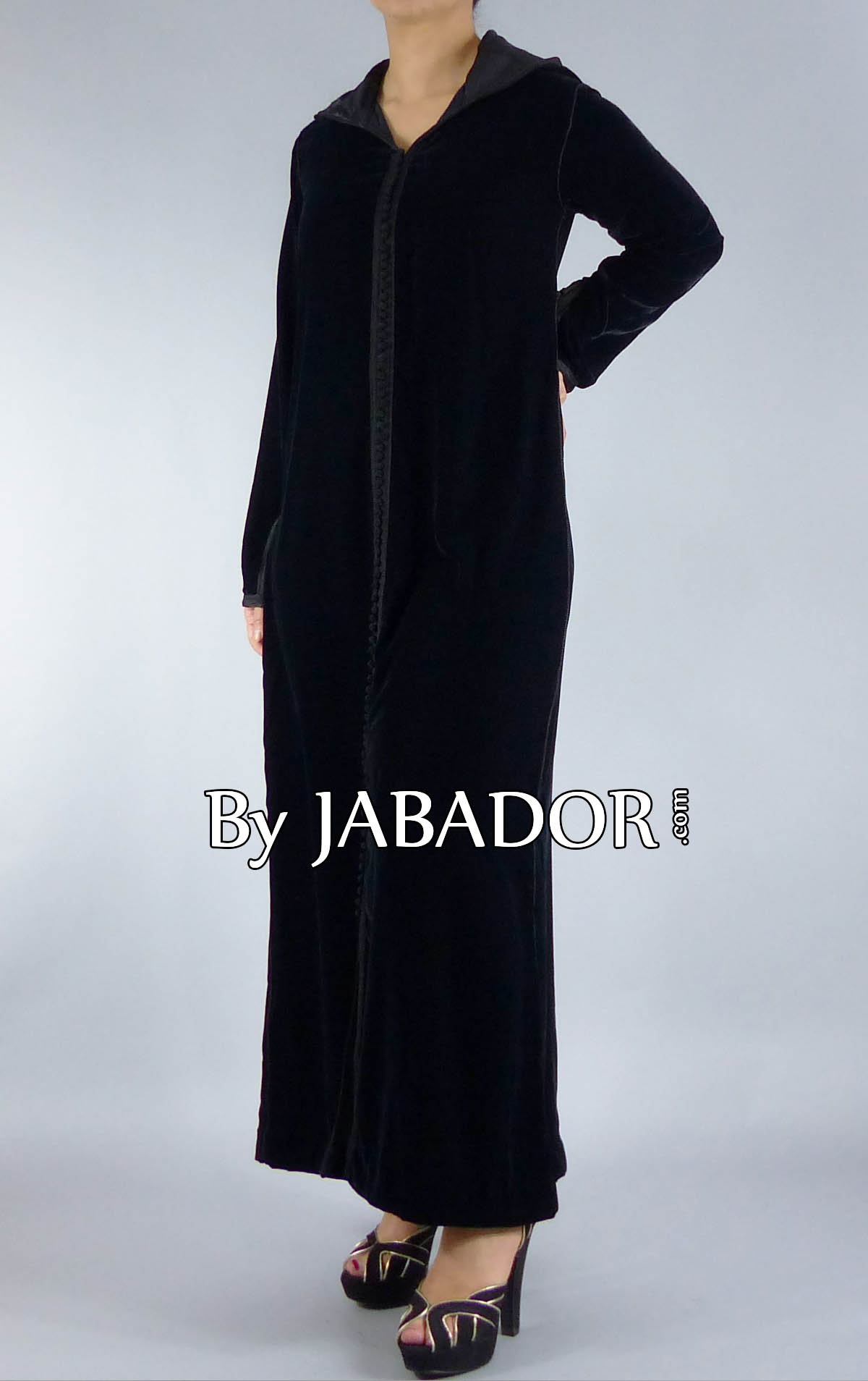 Image gallery djellaba noir 2014 for Caftan avec satin de chaise